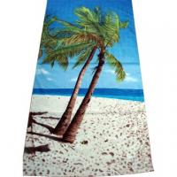 Quality 100% Cotton Full Reactive Printed Velour Beach Towels for sale