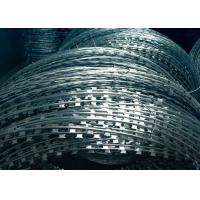 Quality Hot Dipped Galvanized Razor Barbed Wire , Razor Wire Concertina CBT-65 Type for sale