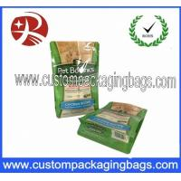 China Resin Packaging Blcok Bottom Bags Custom Packaging Bags For Pet Food on sale