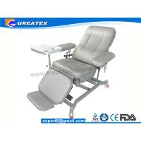 Quality Adjustable Three Section Manual Reclining Tourniquet Blood Drawing Chair Light Grey for sale