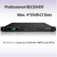 China RSR1104 Four-Channel DVB-S2 Receiver with 4*DVB-CI slots IPTV Streaming Output on sale
