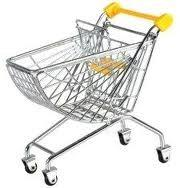 Quality Supermarket Shopping Trolleys Basket Logo can be printed on Trolley handle HBE-J-6 for sale