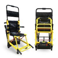 Quality Yellow Stair Climbing Wheelchair Ambulance Electric Stair Chair Stretcher for sale