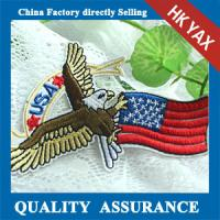Quality new arrival embroidery eagle patches for clothes,patches eagle embroidery factory price for decoration bags jx0819 for sale