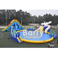 Buy Customized Commercial Grade Inflatable Water Slide With Water Park at wholesale prices