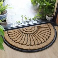 Quality Thickness 25mm Coir Outdoor Mats Semi Circle Rubber Mold Puzzle Style for sale