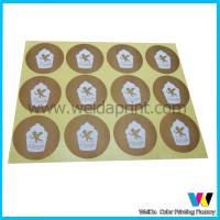 China Self - Adhesive Custom Sticker Printing , Matt Lamination with Customized Logo Printing on sale