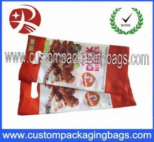 Buy cheap Custom Printing Die Cut Handle Plastic Food Packaging Bags Take Away Food Bag from wholesalers