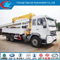 Quality HOWO 6X4 Lorry Truck with 6.3 Truck Crane for sale