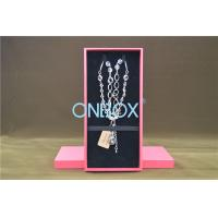 Quality Solid Luxury Jewellery Packaging Boxes Removable Insert Pads For Necklace for sale