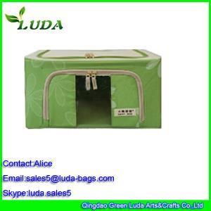 Quality Green storage clothing basekts female non-woven fabric laundry box for sale