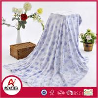 China 260gsm Flannel Throw Blanket and Embossed Butterfly Embossed 200*220cm Butterfly Blanket on sale