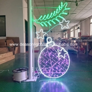 Quality christmas street pole motif for sale
