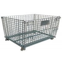 Quality 50x50mm Mesh Stackable Storage Bins , 6mm Industrial Wire Container for sale