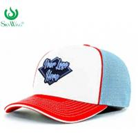 Quality Eco - Friendly Custom Fitted Baseball Hats 2D Flat Embroidered Logo Advertising for sale
