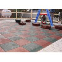 Customized Playground Surface Tiles 1000x1000x(15-50)Mm Safety Large Size