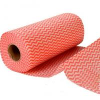China OEM Home Non Woven Fabric Floor Cleaning Wipe Roll 50gsm Household Cleaning Products on sale