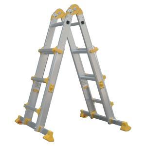 Quality Lightweight Foldable Aluminum Ladder 4x3 Strong Aluminium Telescopic Ladder for sale