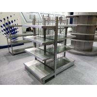 Buy cheap Durable Supermarket Display Shelving With Pitch 50 Wire Mesh Back from wholesalers