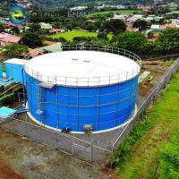 Bolted Steel Dry Bulk Storage Silos With Aluminum Deck Roof