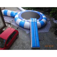 China 0.9MM Thickness PVC Tarpaulin Different Color Inflatable Water Trampoline on sale