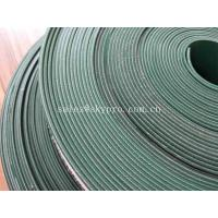 Quality Food Grade PVC Cleat 4mm Flat Rubber Conveyor Belting Durable Straight Grain for sale