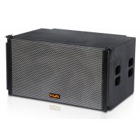 Compact 2x18 Line Array Speakers with Titanium Compression Driver