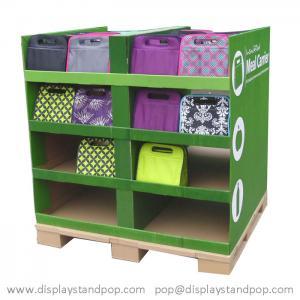 Quality Cardboard pallet display stand, Cardboard POP display for Handbags for sale