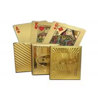 China 24K Carat 100 Dollars Golden Cards Gold Foil Plated Poker Game Playing Cards on sale