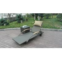 Quality Modern Rattan Sun Lounger , Folding Lounger With Side Tea Table for sale