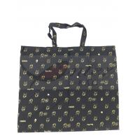 Quality Black 6oz Printing Canvas Foldable Reusable Grocery Bags Attractive Design for sale