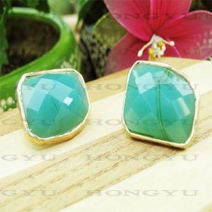 Quality Green Rhinestone Earrings for sale