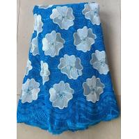 Quality Light blue china swiss voile lace sunflower cotton special swiss voile dry lace for clothes for sale