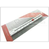 Quality 6inch / 12.7cm Aluminum Sewn Knitting Gauge With Screen Printing for sale