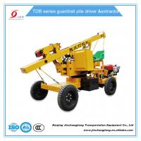 Quality tdb hot sale construction highway hydraulic pile driving machine for guardrail post installation for sale