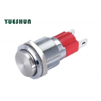 Quality High Head Stainless Steel 1NC 10A Push Button Switch for sale