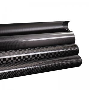 China Triangle Epoxy Resin OEM / ODM Carbon Fiber Piping on sale