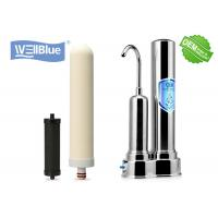 Quality Countertop Ceramic Water Filter Water Purifier System Stainless Steel Housing for sale