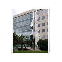 Quality Public Art Column Shape Contemporary Steel Sculpture / Abstract Yard Sculptures for sale