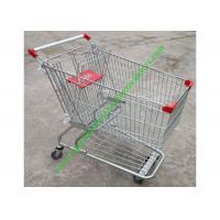 Quality American Style Supermarket Shopping Wire Cart / Customized Carbon steel Hand Trolley for sale