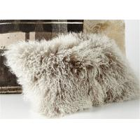 Thick Warm Soft Mongolian Fur Pillow Long Curly Wool Anti Apnea 50*50cm