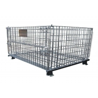 Quality Collapsible Medium Duty Wire Mesh Container 125mm Wheel for sale