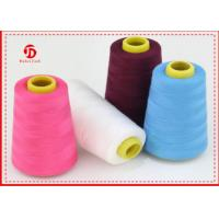 Quality 100% Polyester Spun Yarn Virgin Dyed Colour 30s For Weaving , Knitting for sale