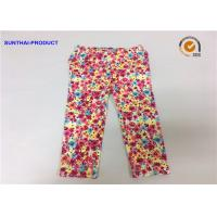 China Chrysanthemum Water Ink Baby Girl Printed Leggings With 95% Cotton 5% Spandex on sale