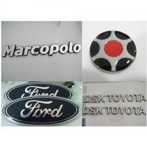 China Chrome car badge,Silver Chrome car emblem, custom car sticker, car logo, chrome car nameplate on sale