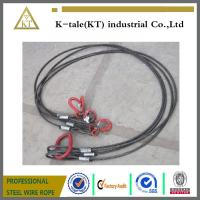 Quality Heavy trailer towing cable black steel wire rope sling /rigging for sale