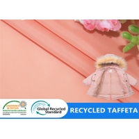 China 300T Taffeta Recycled Plastic Bottle Fabric Jacket Lining Kids Clothing Shopping Bags Fabric on sale
