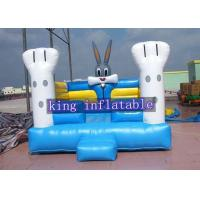 China Oxford Fabric 13 Feet Kids Modular Bouncer / Inflatable Jump Houses With Bunny Design on sale