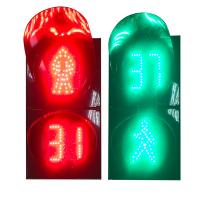 200mm Red Green LED Dynamic Pedestrian Traffic Light with Countdown Timer