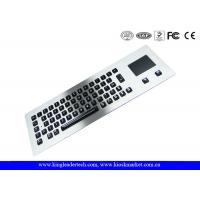 Quality Customized Layout Panel Mount Keyboard Metal with Touchpad Mouse / Vandal proof Keyboard for sale